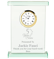 Oxford Jade Crystal Clock