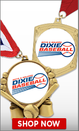 Dixie Baseball Medals