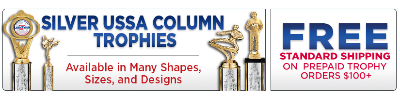 USSSA Silver Column Trophies