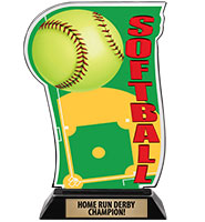 Spectrum Acrylic Softball Trophy