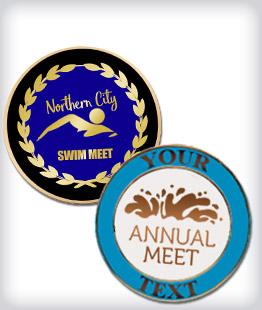 Custom Semi Cloisonne Swimming Pins