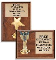 Classic Figurine Wood Plaques