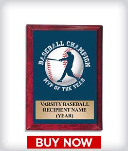Custom Red Marbleized Logo Plaque