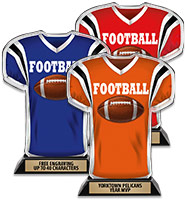 Acrylic Football Jersey Front Trophy