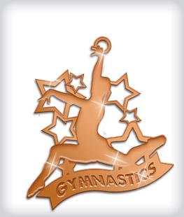 Shiny Bronze Custom Gymnastics Medals