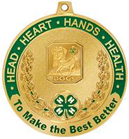 "2 1/2"" 4-H Dog Medal"