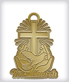 Antique Gold Custom Religious Medals
