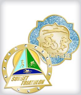 Custom Specialty Triathlon Pins