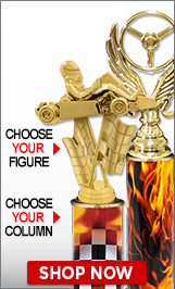 Drag Racing Column Trophies