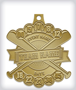 Antique Gold Custom Baseball Medals