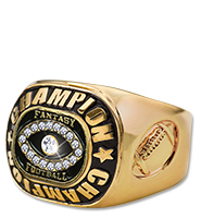 Fantasy Football Gold Champion Ring