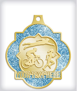 Glitter Custom Triathlon Medals