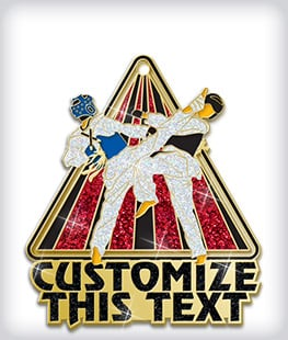 Glitter Custom Martial Arts Medals