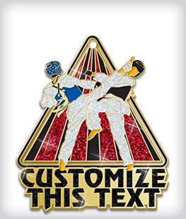 Glitter Custom Martial Arts Medals