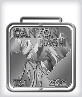 Antique Silver Custom Running Medals