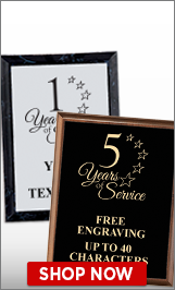 Years of Service Plaques