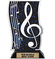 Spectrum Acrylic Music Trophy