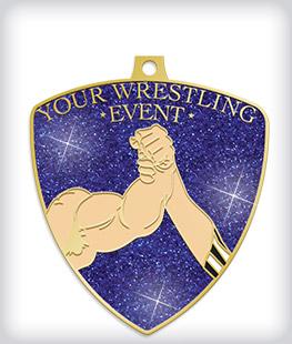 Glitter Custom Wrestling Medals