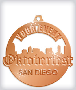Shiny Bronze Custom Oktoberfest Medals