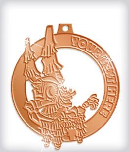 Shiny Bronze Custom Fiesta Medals