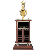 Fantasy Football Walnut Riser Perpetual Trophy