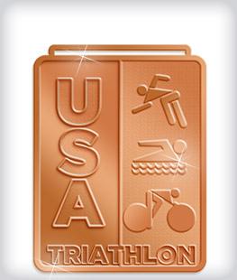 Shiny Bronze Custom Triathlon Medals