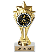 "6 1/2"" Center Stage Insert Trophy"