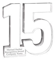 15 Year Recognition Acrylic