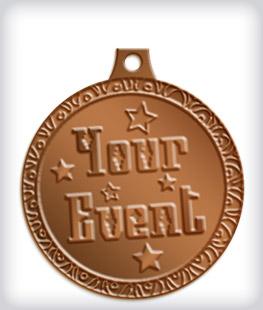 Antique Bronze Custom Fiesta Medals