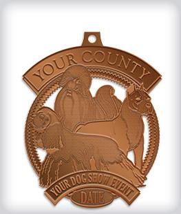 Antique Bronze Custom Dog Medals