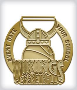Antique Gold Custom Mascot Medals