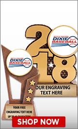 Dixie Baseball Sculptures
