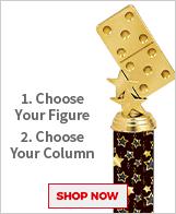 Dominoes Column Trophies