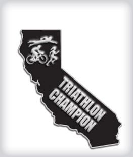 Custom State Shaped Triathlon Pins
