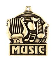 "1 3/4"" Music Medals"