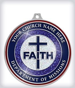 Glitter Custom Religious Medals