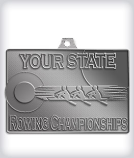 Antique Silver Custom Rowing Medals