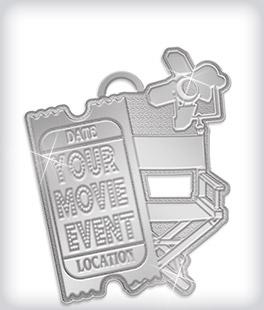 Shiny Silver Custom Logo Medals
