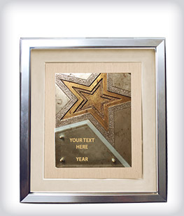 Custom Frame With Mixed Material Plaque