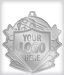 Shiny Silver Custom Soccer Medals