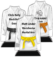 Acrylic Martial Arts Uniform Trophy
