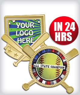 Custom Insert Softball Pins