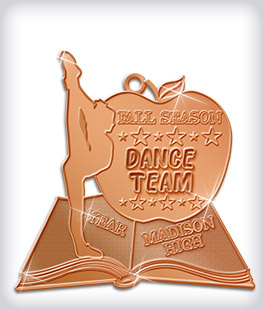 Shiny Bronze Custom Dance Medals