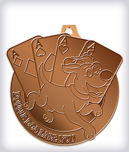 Antique Bronze Custom Mascot Medals