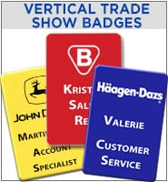 Vertical Trade Show Badge