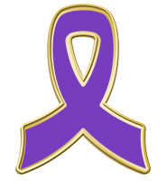 Purple Awareness Insert Ribbon Pin