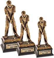 Topflight Male Golfer Sculpture