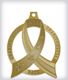 Antique Gold Custom Awareness Medals