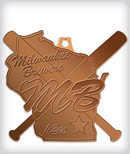 Antique Bronze Custom Softball Medals