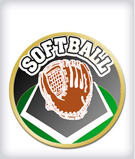 Custom Printed Softball Pins